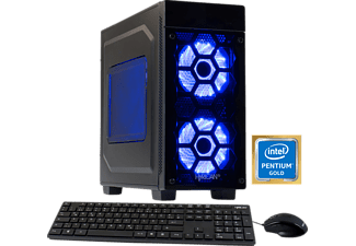 HYRICAN STRIKER 5864, Gaming PC mit Pentium® Prozessor, 8 GB RAM, 1 TB HDD, Geforce® GTX 1050 Ti, 4 GB GDDR5 Grafikspeicher