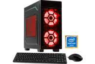 HYRICAN STRIKER 5861, Gaming PC mit Pentium® Prozessor, 8 GB RAM, 1 TB HDD, GeForce® GTX 1050 Ti, 4 GB