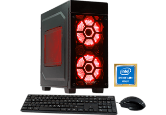 HYRICAN STRIKER 5861, Gaming PC mit Pentium® Prozessor, 8 GB RAM, 1 TB HDD, GeForce® GTX 1050 Ti, 4 GB GDDR5 Grafikspeicher