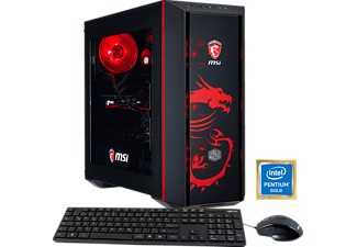 HYRICAN MSI DRAGON E. 5916, Gaming PC mit Pentium® Prozessor, 8 GB RAM, 1 TB HDD, Geforce® GTX 1050 Ti, 4 GB GDDR5 Grafikspeicher