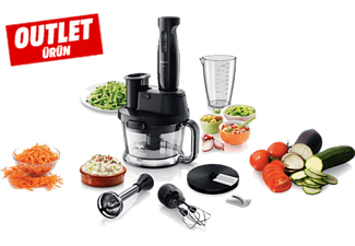 PHILIPS Viva Collection HR1337/00 700 W El Blenderi Çift Mikser ve Ölçekli Sürahi ile Outlet