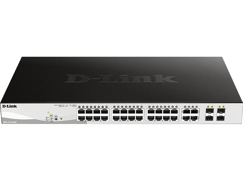 D-LINK 24-Port Layer2 PoE Smart Switch, Schwarz
