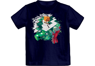 BIOWARE Minecraft T-Shirt Snowball Fight - Svart (7-8 år)