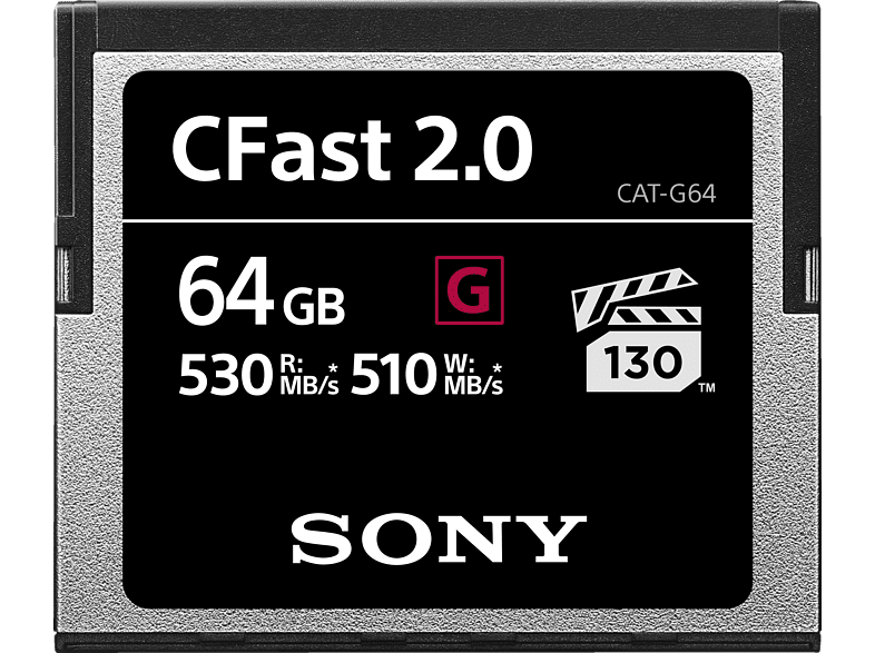 SONY CFast 2.0, Compact Flash Speicherkarte, 64 GB, 530 MB/s