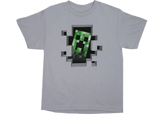 BIOWARE Minecraft Creeper T-Shirt - Grå (11-12 år)
