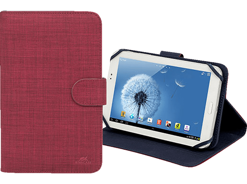 RIVA CASE 3312 Tablethülle, Bookcover, 7 Zoll, Rot
