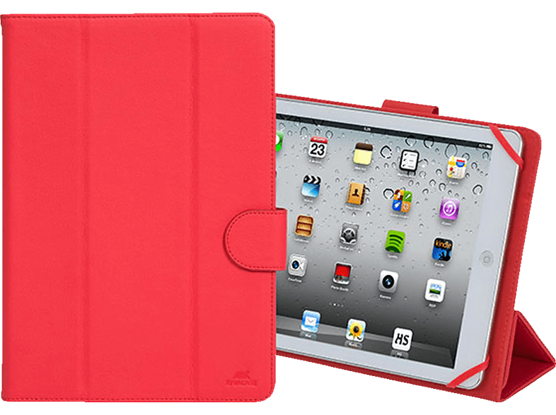 RIVA CASE 3137 Tablethülle, Bookcover, 10.1 Zoll, Rot