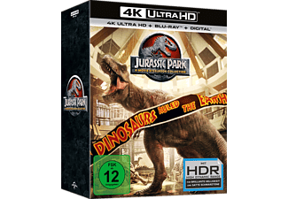 Jurassic Park 1-3/Jurassic World (Double Steelbook im Schuber) - (4K Ultra HD Blu-ray)