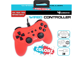 NORDIC GAME SUPPLY SU-SA5488-2 SWITCH WIRED CONTROLLER COLORZ RED, Controller, Rot