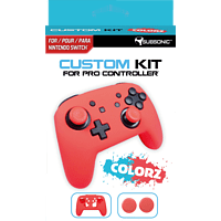 NORDIC GAME SUPPLY Custom Kit für Pro Controller Switch , Nintendo Switch Controllergrip, Rot