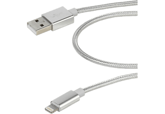 VIVANCO Longlife Apple Lightningkabel MFI-certifierad 1.5m - Silver/Grå