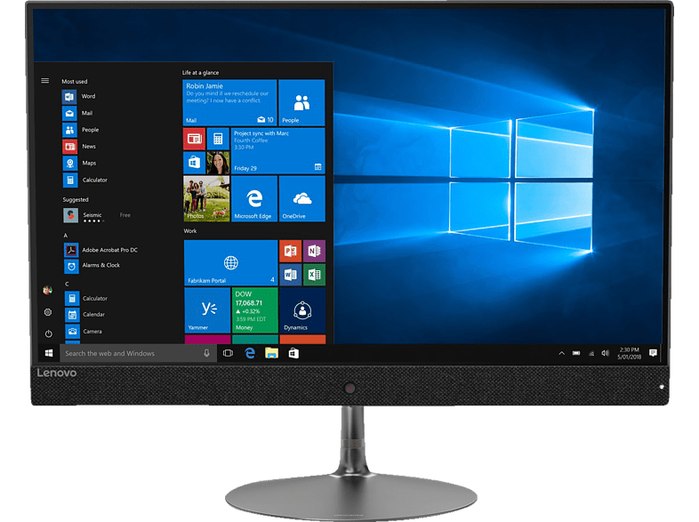 LENOVO IdeaCentre AIO 730S, All-in-One PC mit 23.8 Zoll Display, Core™ i5 Prozessor, 8 GB RAM, 256 GB SSD, Radeon™ 530, Iron Grey