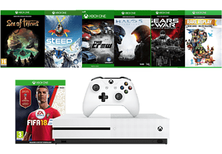 MICROSOFT XBOX ONE S 1TB + FIFA18 (inkl. Sea of Thieves, Steep, Crew, Halo 5, Gears of War Ult. & Rare Replay)