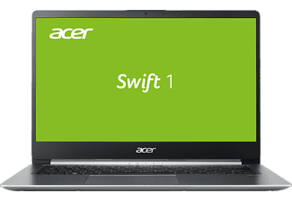 ACER Swift 1 (SF114-32-P60X), Notebook mit 14 Zoll Display, Pentium® Silver Prozessor, 4 GB RAM, 64 GB eMMC, Intel® UHD Graphics 605, Aluminium-Unibody/Sparkly Silver