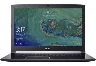 ACER Aspire 7 (A717-71G-74YZ), Notebook mit 17.3 Zoll Display, Core™ i7 Prozessor, 8 GB RAM, 256 GB SSD, 1000 GB HDD, GeForce® GTX 1050, Schwarz
