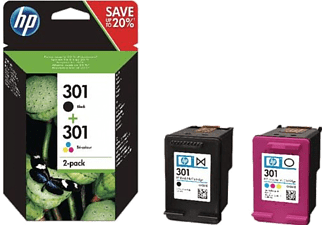 HP N9J72AE No. 301 fekete / színes multipack eredeti tintapatron