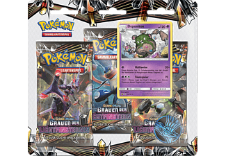 THE POKEMON COMPANY INT. Pokemon SM06 Grauen d. Lichtfinsternis 3er Pack Blister Trading Cards, Mehrfarbig