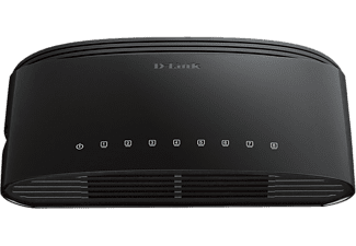 D-LINK DES‑1008D 8‑Port Fast Ethernet Unmanaged Desktop Switch