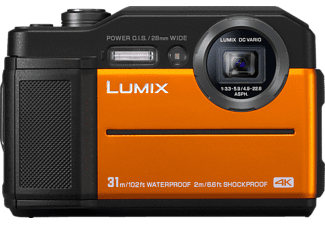PANASONIC Digitalkamera Lumix DC-FT7 Outdoor-Experte, wasserdicht, stoßfest, kälteresistent, orange