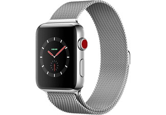 APPLE Watch Series 3 GPS + Cellular eSIM 38mm Boett i Rostfritt stål - Milanesisk Loop