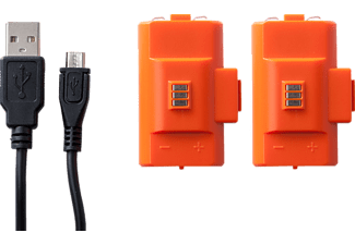 POWER A Xbox One Play and Charge Kit, Zubehör für Xbox One, Orange/Schwarz