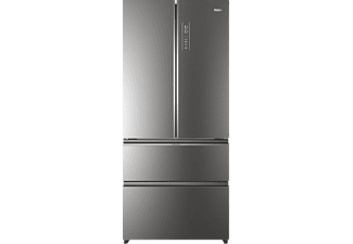 Kühlschrank French Door : Haier hb18fgsaaa design glasfront in silber mediamarkt