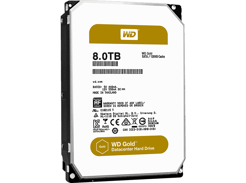 WD Gold™ BULK, 8 TB HDD, 3.5 Zoll, intern