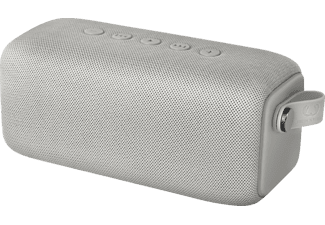 FRESH N REBEL Rockbox Bold M, Bluetooth Lautsprecher, Wasserfest, Hellgrau