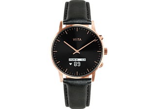 VIITA WATCH Hybrid HRV Classic, Connected Watch, Echtleder, -, roségold, schwarz