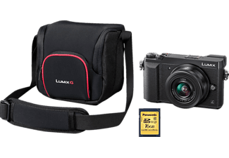 PANASONIC Lumix DMC-GX80W Systemkamera 16 Megapixel mit Objektiv 12-32 mm f/3.5-5.6, f/4.0-5.6, 7.5 cm Display   Touchscreen, WLAN