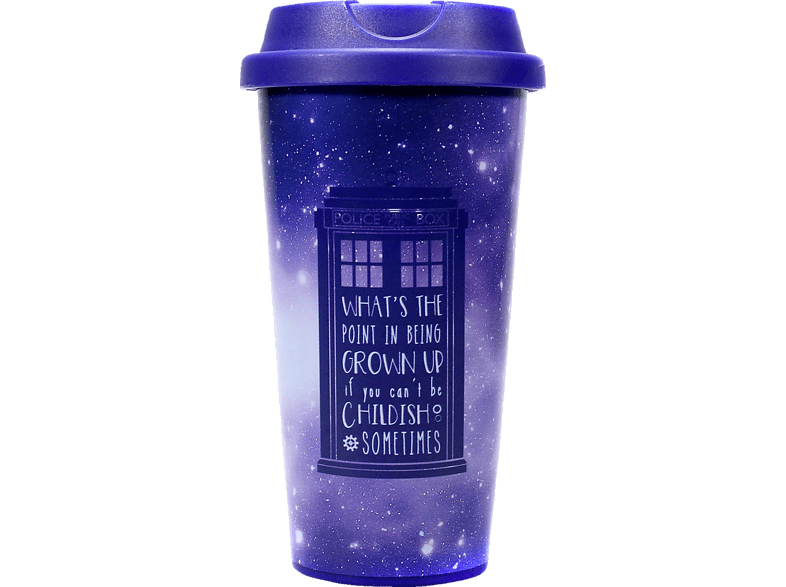 KLANGUNDKLEID.DE Doctor Who Travel Mug Galaxy Mug, Mehrfarbig