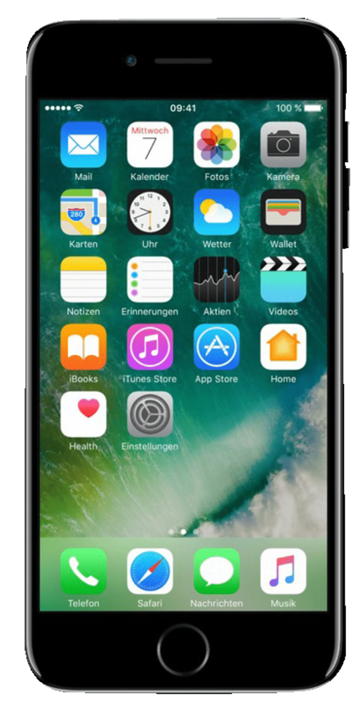 APPLE iPhone 7 Smartphone – 128 GB – Diamantschwarz | 00190198069979