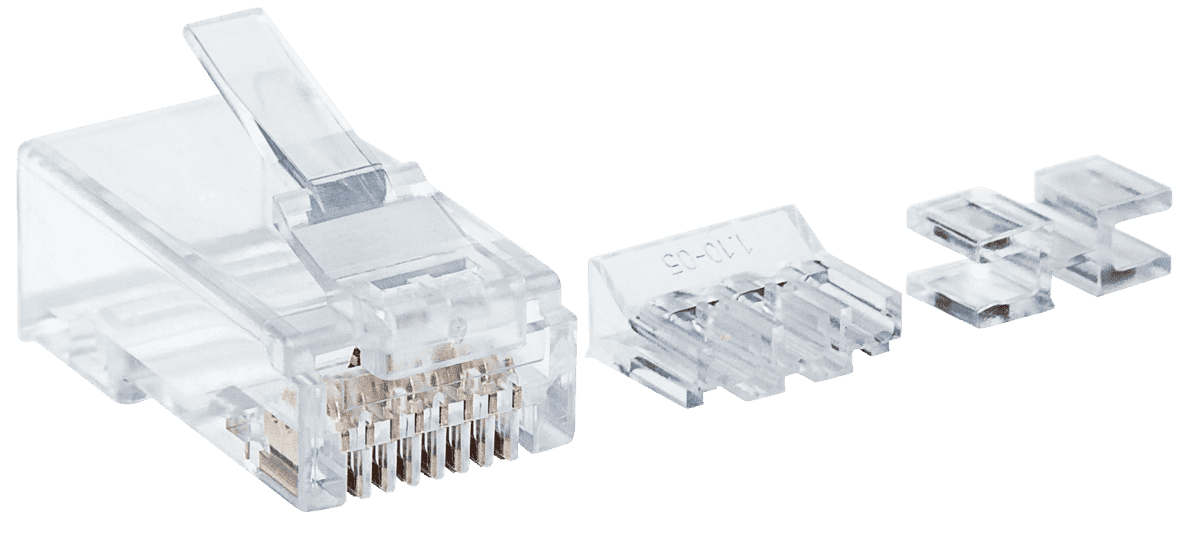 INTELLINET  80er-Pack Cat6 RJ45 Modularstecker in Transparent | 00766623790536