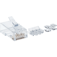 INTELLINET 80er-Pack Cat6 RJ45 Modularstecker