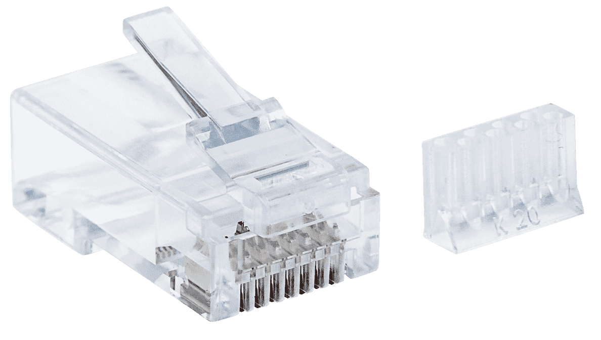INTELLINET  90er-Pack Cat6 RJ45 Modularstecker in Transparent | 00766623790604
