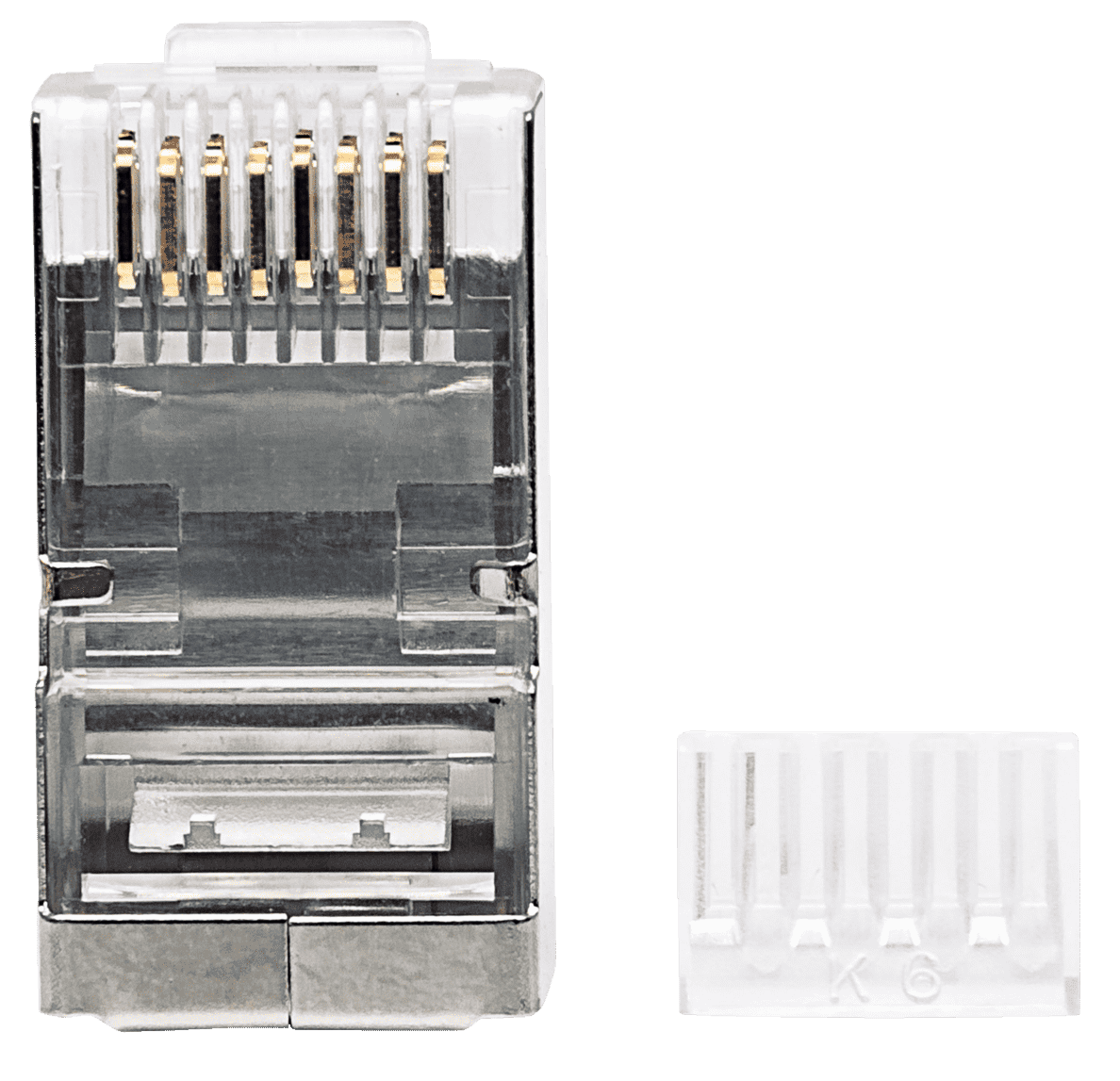 INTELLINET  90er-Pack Cat6 RJ45 Modularstecker in Silber | 00766623790635