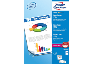 AVERY ZWECKFORM Classic Colour Laser Paper, DIN A4, 150 g/m², 200 feuilles