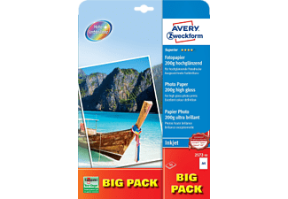 AVERY ZWECKFORM Superior Inkjet Photo Paper, DIN A4, 200 g/m², 50 feuilles