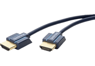 CLICKTRONIC High Speed Slim HDMI-kabel -  (Blau)