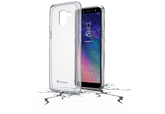CELLULAR LINE Clear Duo Handyhülle, Transparent, passend für Samsung Galaxy A6 2018