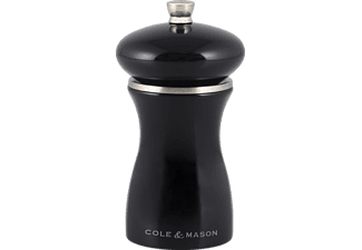 COLE & MASON HS0484P Sherwood Black Gloss, Pfeffermühle, Schwarz, 120 mm