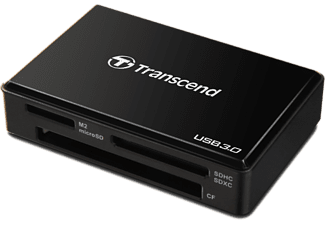 TRANSCEND F8 MULTI CARD READER USB3  Schwarz