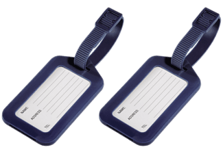 HAMA 105323 LUGGAGE TAG GREY 2PCS  Dunkelblau