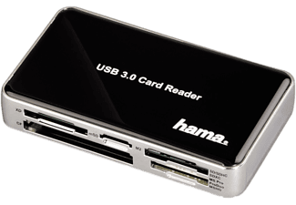 HAMA USB-3.0-SuperSpeed-Kartenleser All in One  Schwarz