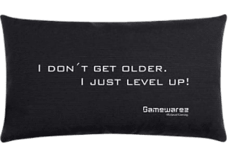 "GAMEWAREZ ""I DON'T GET OLDER. I JUST LEVEL UP!"" - Gaming Pillow - Nero - (-)"