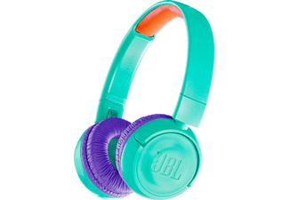 JBL JR300BT - Cuffie Bluetooth per bambini (On-ear, Blu/turchese)