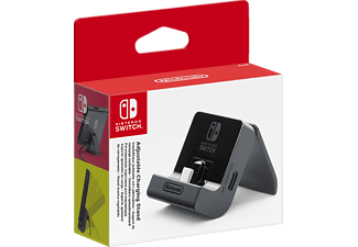 NINTENDO Switch Verstellbarer Aufsteller mit Ladefunktion, Nintendo Switch Ladestation, Schwarz