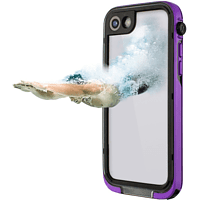 HAMA Outdoor-Box Aqua Flip Cover Apple iPhone 7 / iPhone 8 Kunststoff/Polycarbonate/Silikon/Thermoplastisches Polyurethan Lila