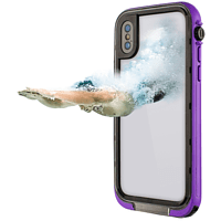 HAMA Outdoor-Box Aqua Flip Cover Apple iPhone X Kunststoff/Polycarbonat/Silikon/Thermoplastisches Polyurethan Lila