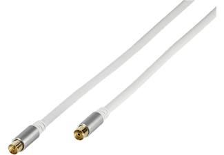 VIVANCO Premium 110db Antennkabel + Adapter 5m - Vit